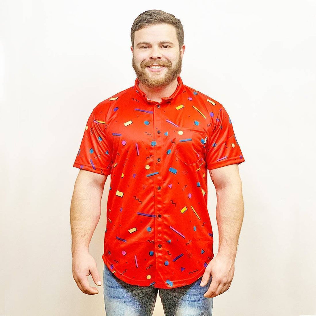 Bayside High Red Button Down - Greater Half