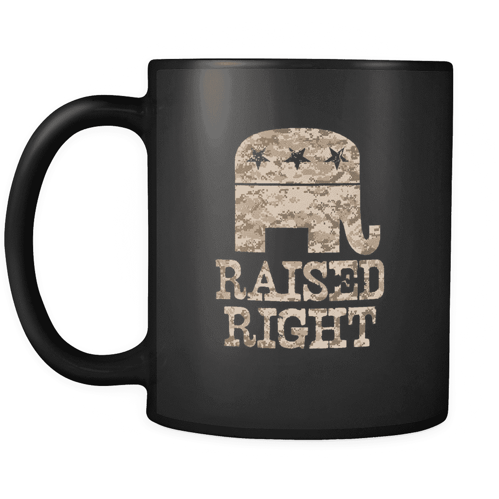 Raised Right Mug Away Colors Drinkware teelaunch