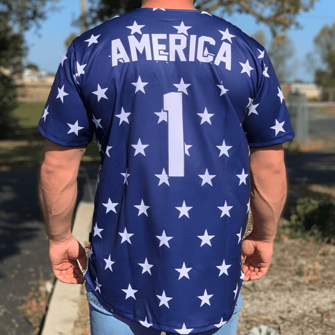 Image of Eagle America #1 Baseball Jersey