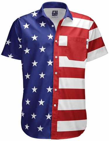 Image of American Flag Button Down - Greater Half