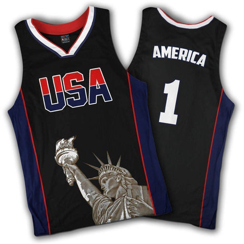 Limited Edition Black America #1 Basketball Jersey Shirt Greater Half 4XL