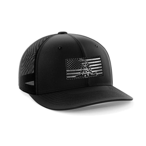 Image of Don't Tread USA Black Patch Hat