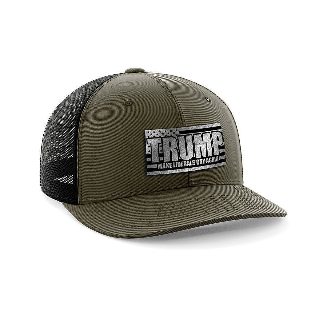 Make Liberals Cry Again Black Patch Hat