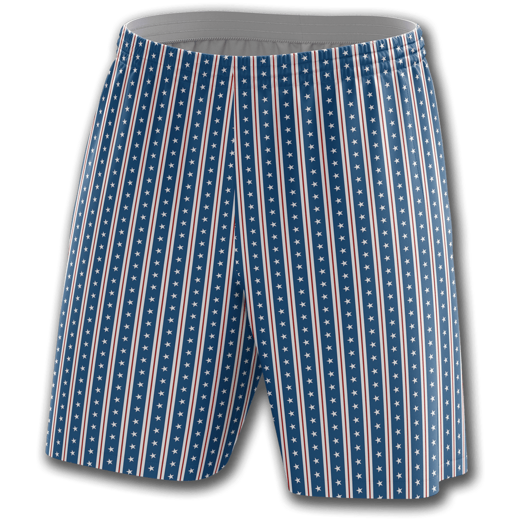 Blue Vertical Star Athletic Shorts