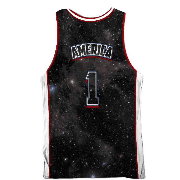 USA Galaxy Basketball Jersey