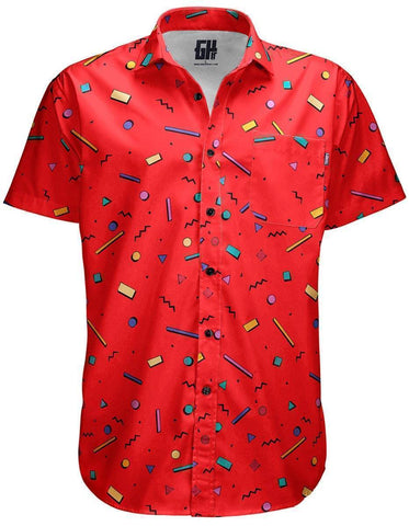 Image of Bayside High Red Button Down - Greater Half