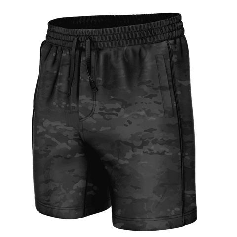 Black Camo Swim Trunks