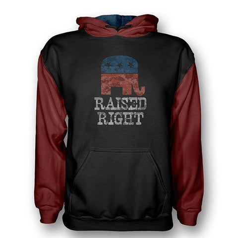 Raised Right Hoodie (Digital Camo Red) - Greater Half