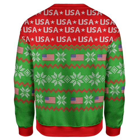 Trump Rocky Christmas Sweater