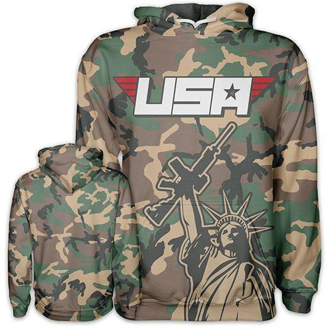 Image of Camo Liberty Hoodie-Greater Half