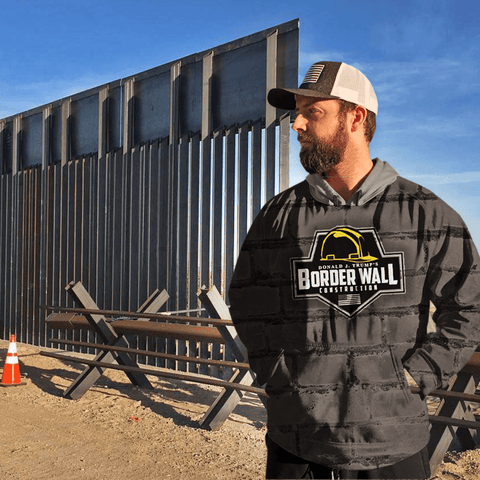 Border Wall Construction Hoodie - Greater Half