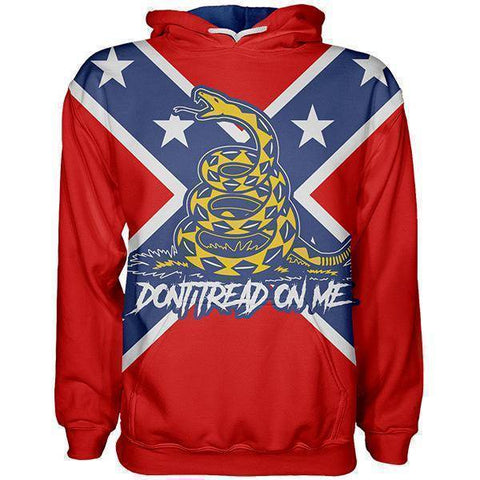 Image of Confederate Gadsden Hoodie-Greater Half
