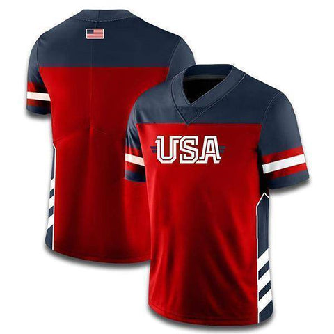 Custom USA Football Jersey (Navy)