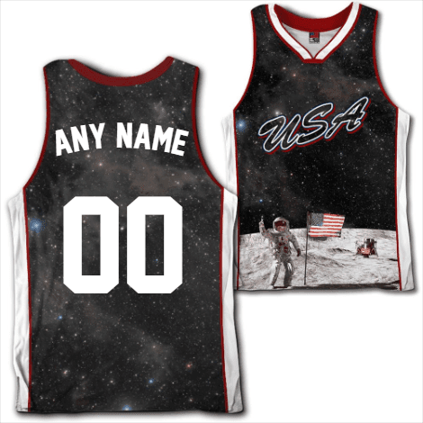 61fbb1d21 Custom Team USA Galaxy Jersey Shirt Greater Half ...