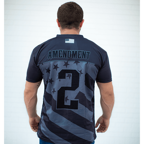USA 2nd Amendment Football Jersey Blackout Edition