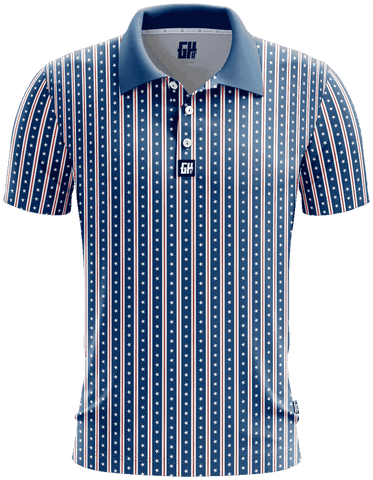 Image of America Stars and Straps Golf Polo - Greater Half