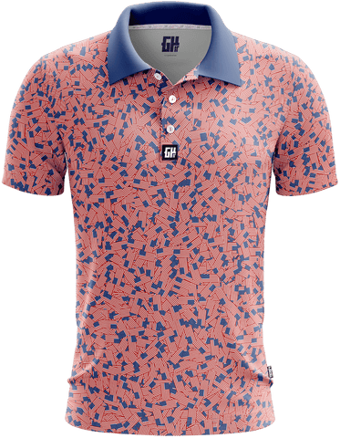 Stars and Bars Golf Polo