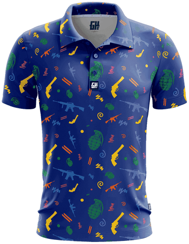 Retro Pew Golf Polo - Greater Half