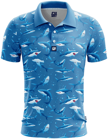 Shark Week Golf Polo