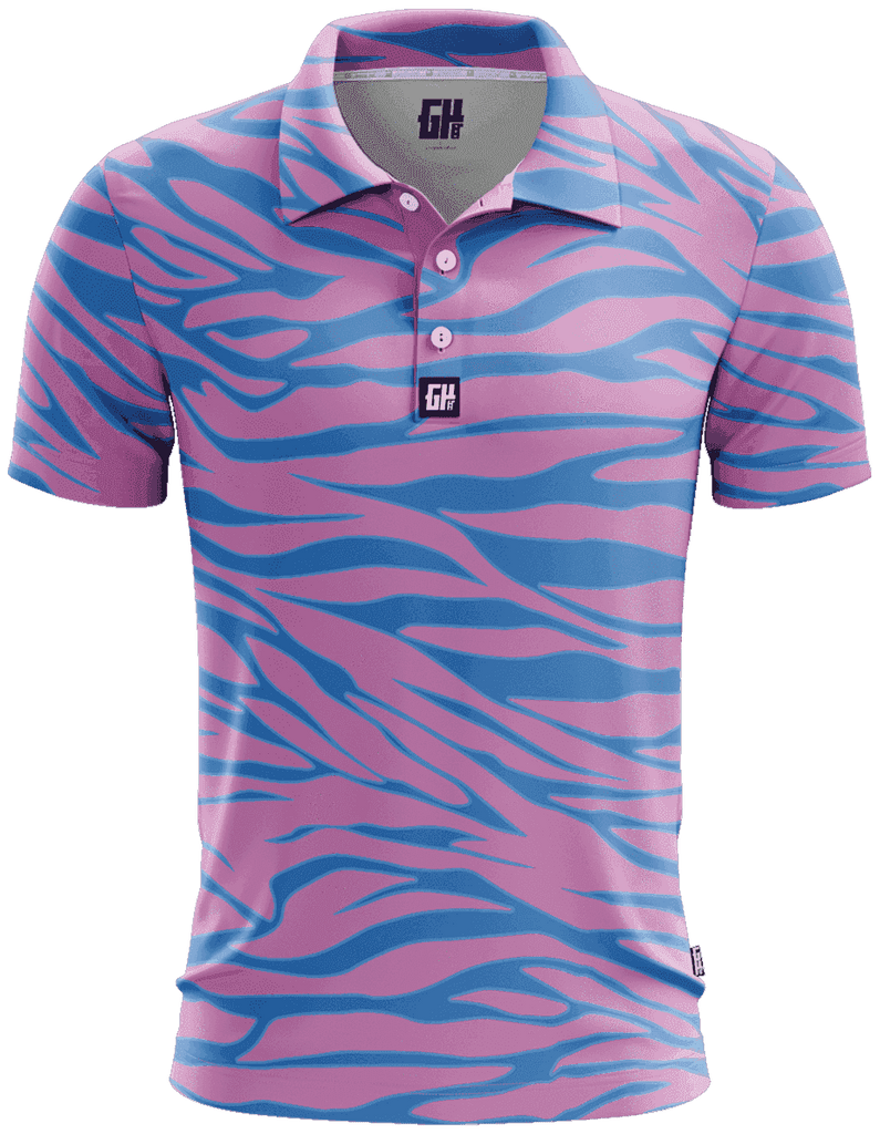 Trippin Zebra Golf Polo