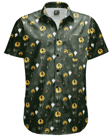 Image of Halloween Green Button Down