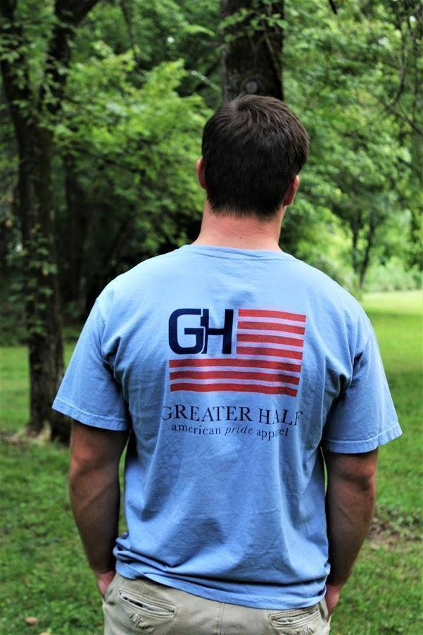 The Original Shirts Greater Half 100% Ring Spun Cotton Whale Blue S