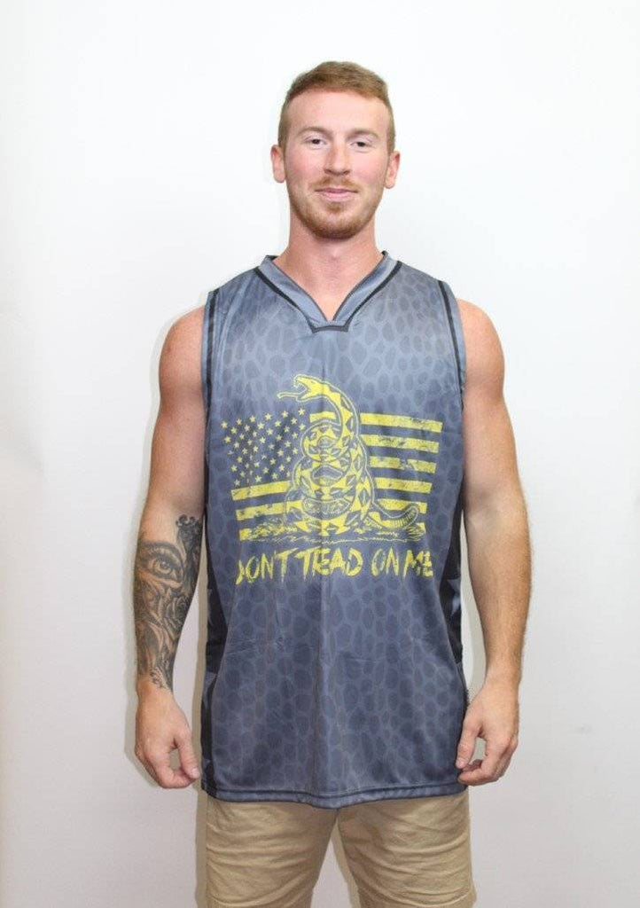 Don't Tread on Me Basketball Jersey - Greater Half