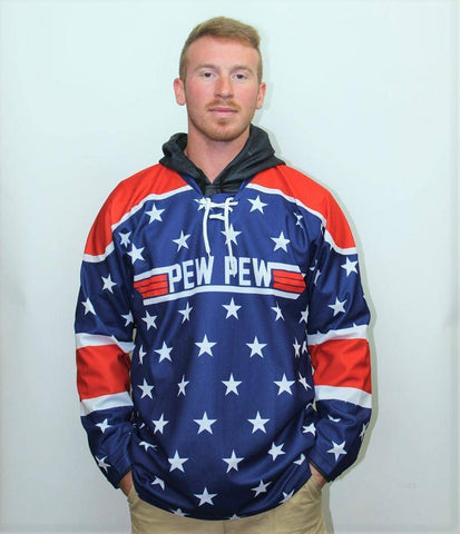 Image of Pew Pew Hockey Jersey