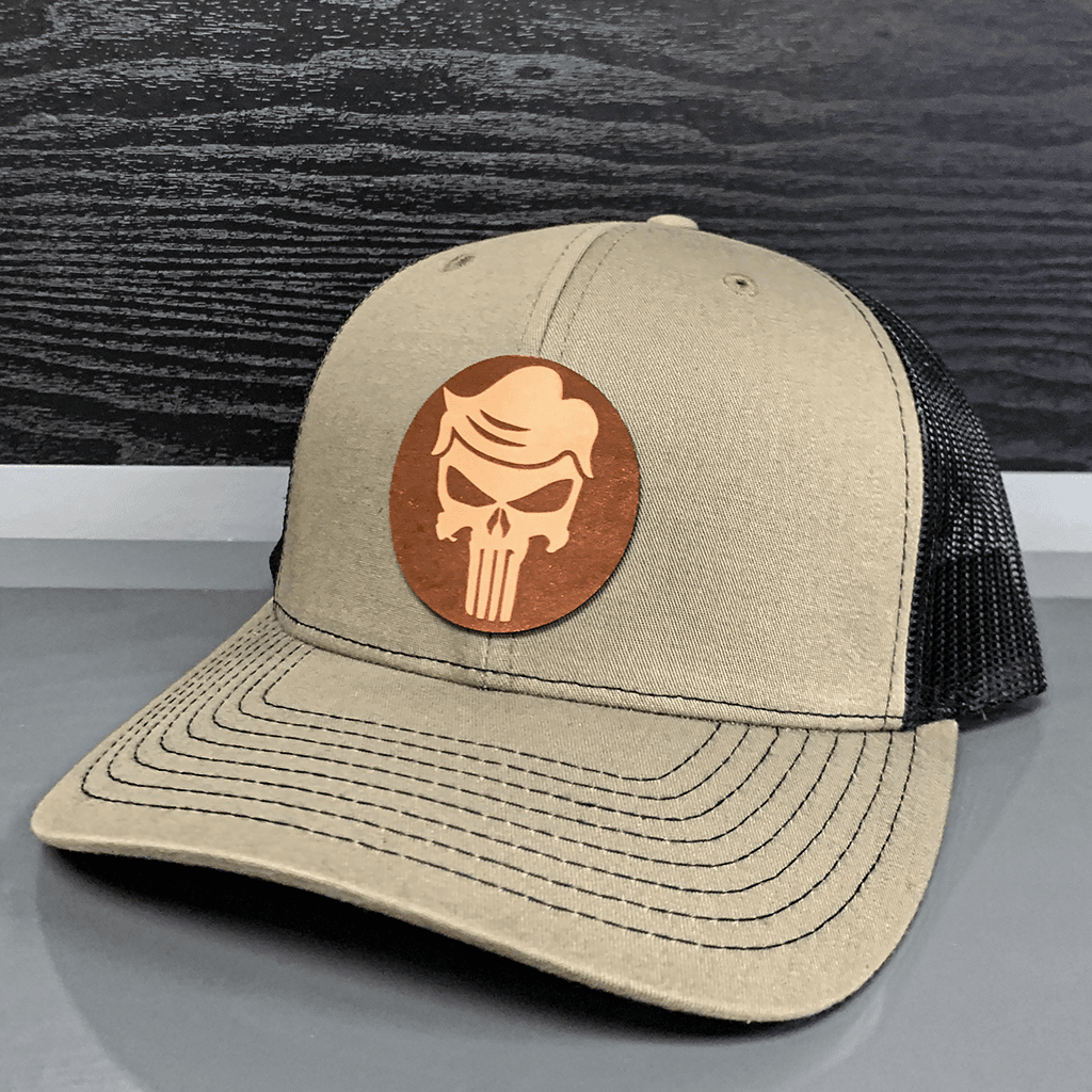 Trumpisher Leather Patch Hat