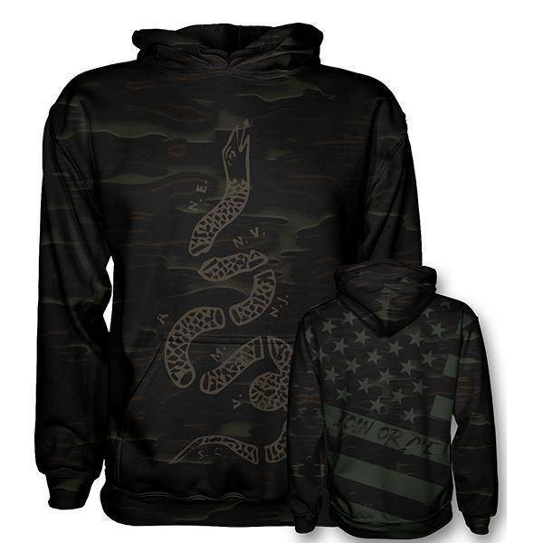 Join or Die Hoodie - Dark Camo-Greater Half