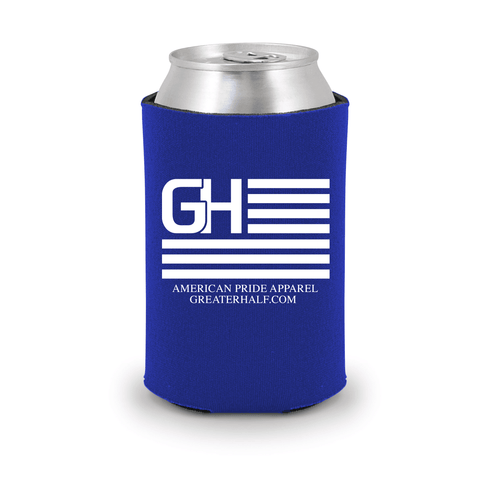 Image of Greater Half Koozie Koozies Greater Half Blue