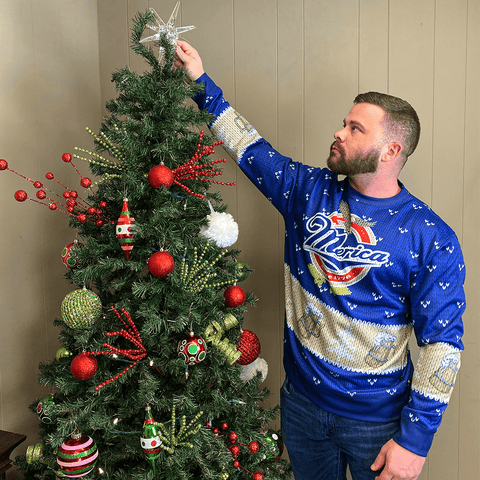 Merica Lite Christmas Sweater
