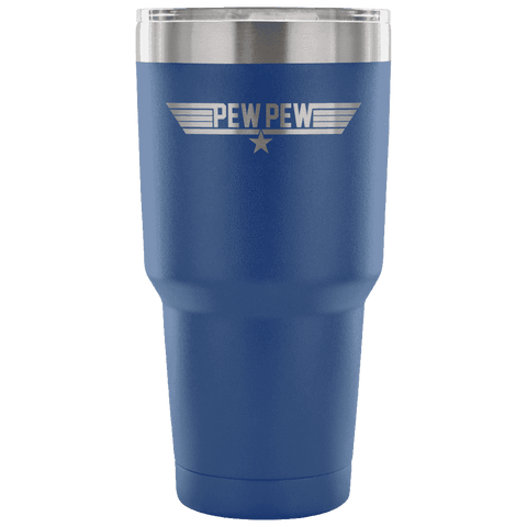 Top Pew Tumbler Tumblers teelaunch Blue