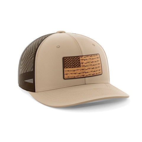 Amerigun Flag Leather Patch Hat
