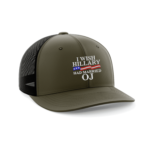 Image of I Wish Hillary Married OJ Embroidered Trucker Hat