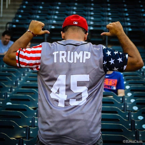 Grey Trump #45 Baseball Jersey