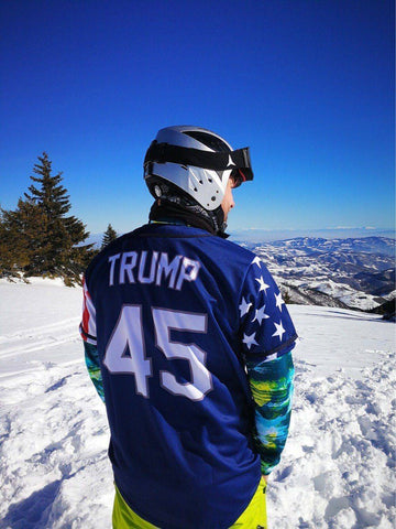 Image of Blue Trump #45 Baseball Jersey - Greater Half