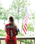 Red America #1 Baseball Jersey - Greater Half
