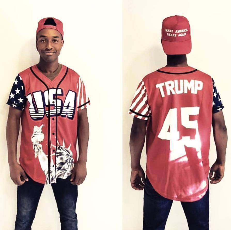 ... Greater Half XXL  Red Trump  45 Baseball Jersey ... 61dae5a88