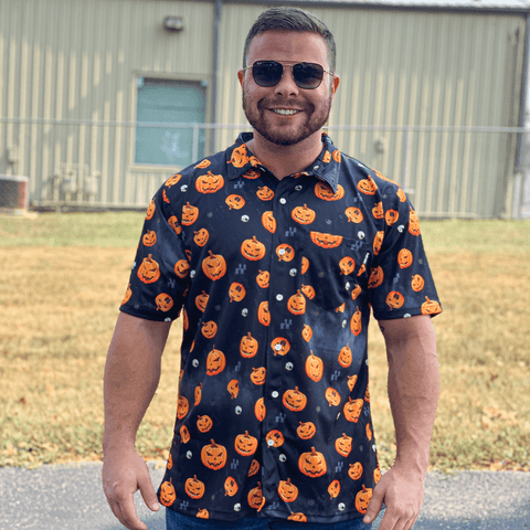 Pumpkin Button Down