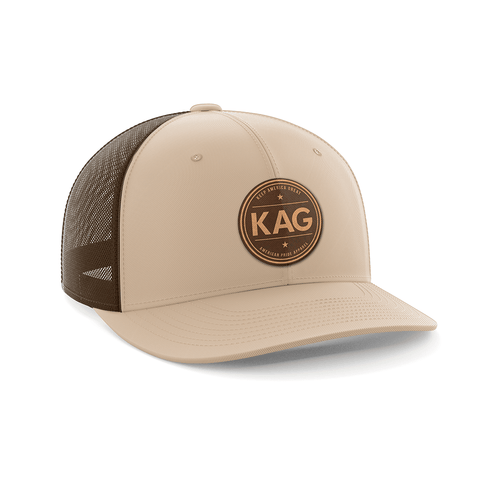 Keep America Great Leather Patch Hat