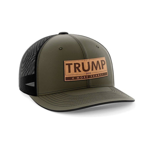 Trump - 4 More Years Leather Patch Hat