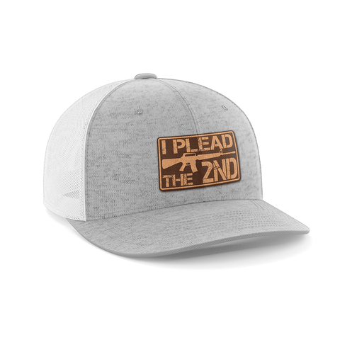 Image of I Plead The 2nd Leather Patch Hat