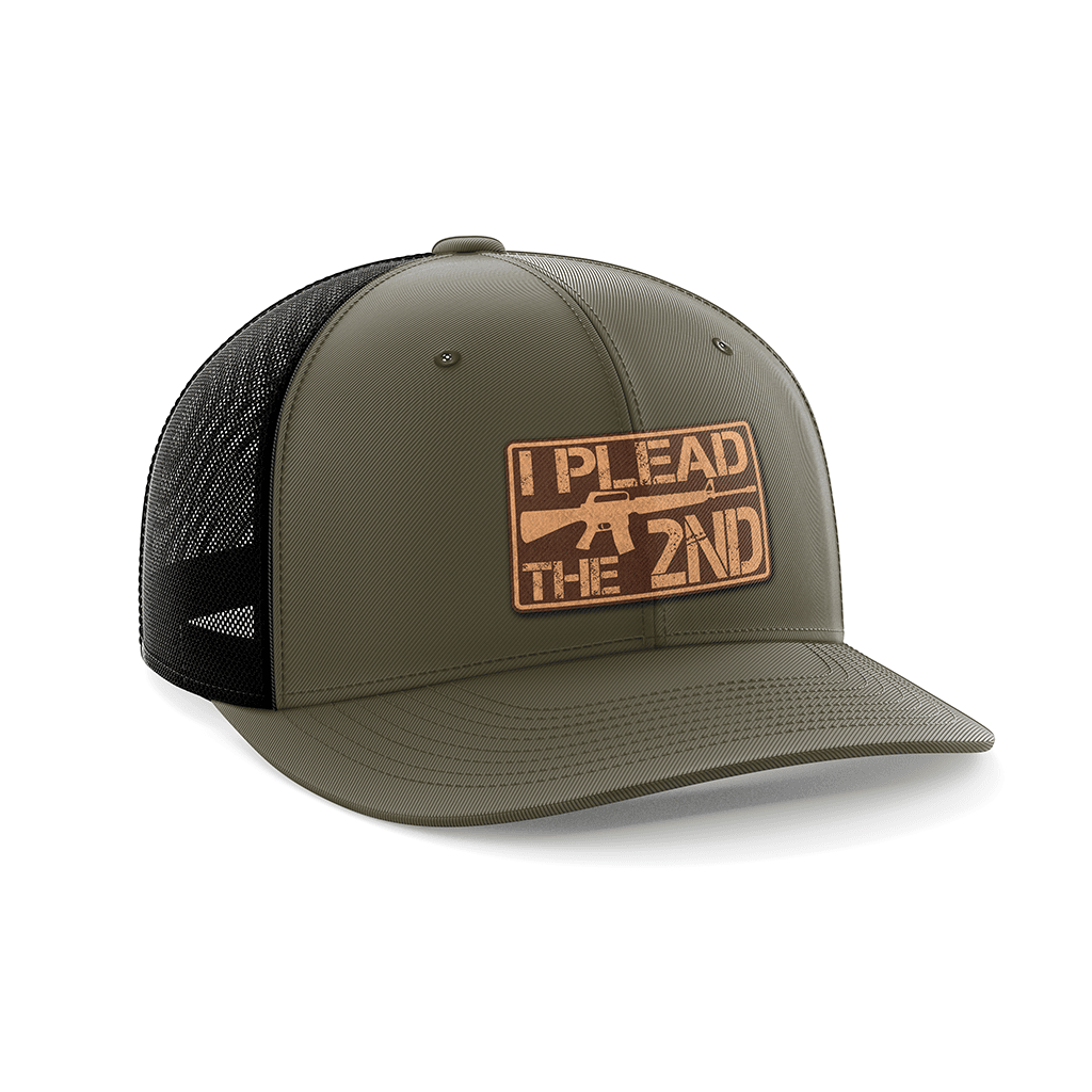 I Plead The 2nd Leather Patch Hat