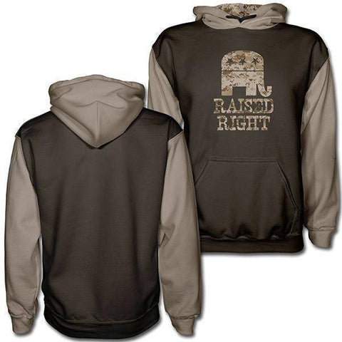 Raised Right Digital Camo Tan Hoodie-Greater Half