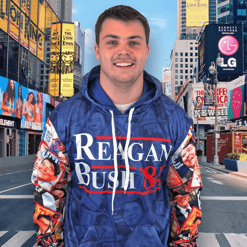 Image of Reagan Bush 84 Hoodie Shirt Greater Half