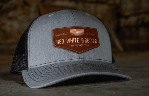 Red, White, and Better Than You Leather Patch Hat