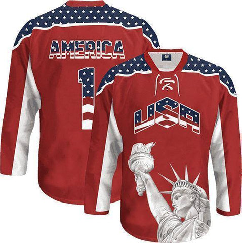 Image of Liberty America #1 Hockey Jersey-Greater Half
