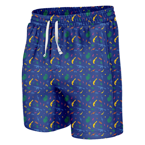 Retro Guns Swim Trunks