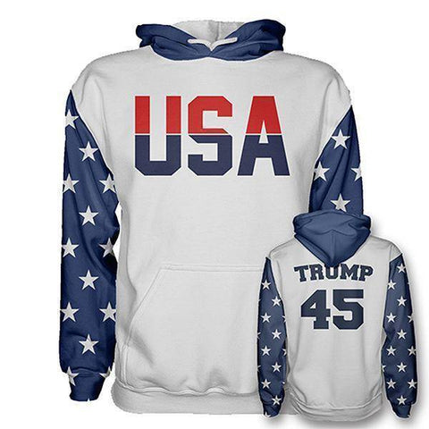 Retro Trump #45 Hoodie-Greater Half
